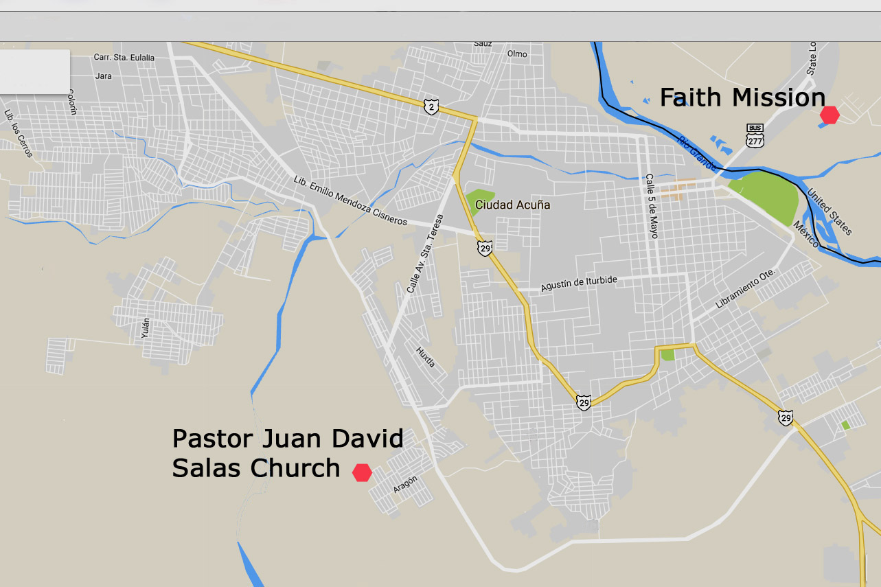 Pastor Juan David Salas Church - Map