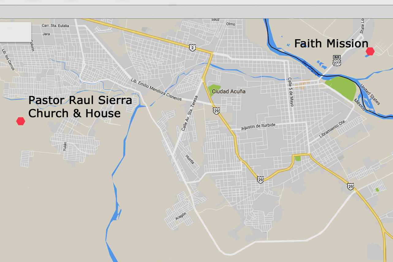 Pastor Raul Sierra Church & House Map