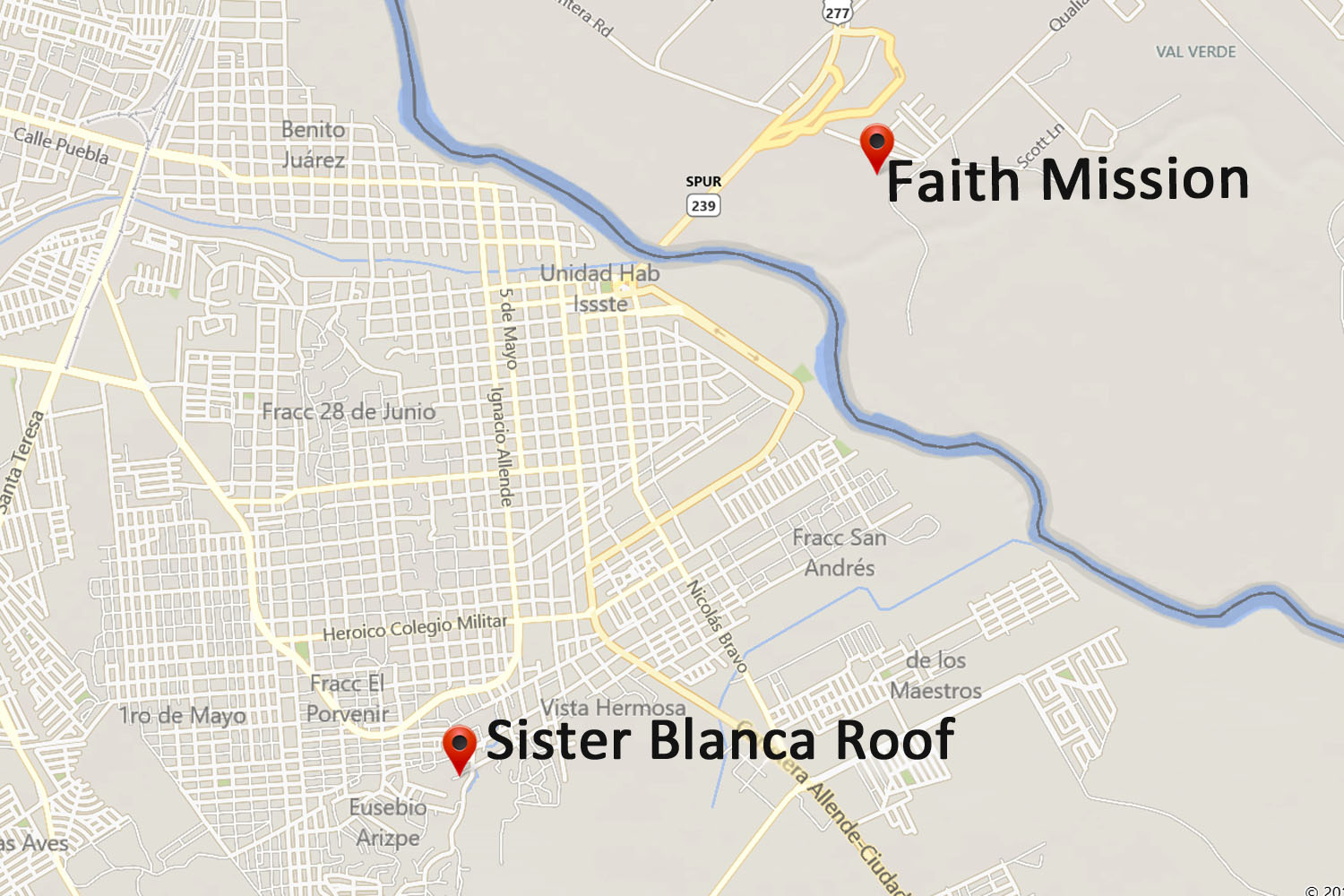 Sister Blanca Roof Map